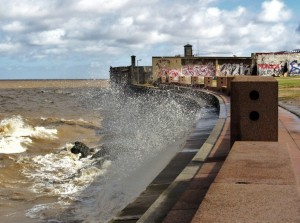 Montevideo, Uruguay -- Windy tides