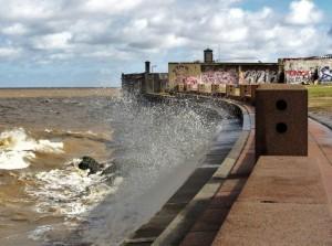 Montevideo, Uruguay -- Windy tides